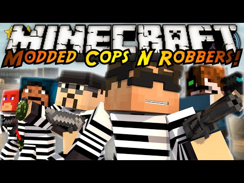 Minecraft Modded Cops N Robbers : Grand Theft Auto 5 Mod!