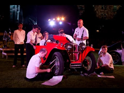 Marios Joannou Elia: AUTOTRIO - for Benz Patentmotorwagen, Aero 6218R, Mercedes-Benz SLS AMG, 14 musicians and electronics (2010) | Official Overview Trailer Commissioned by m:con-mannheim:congre...