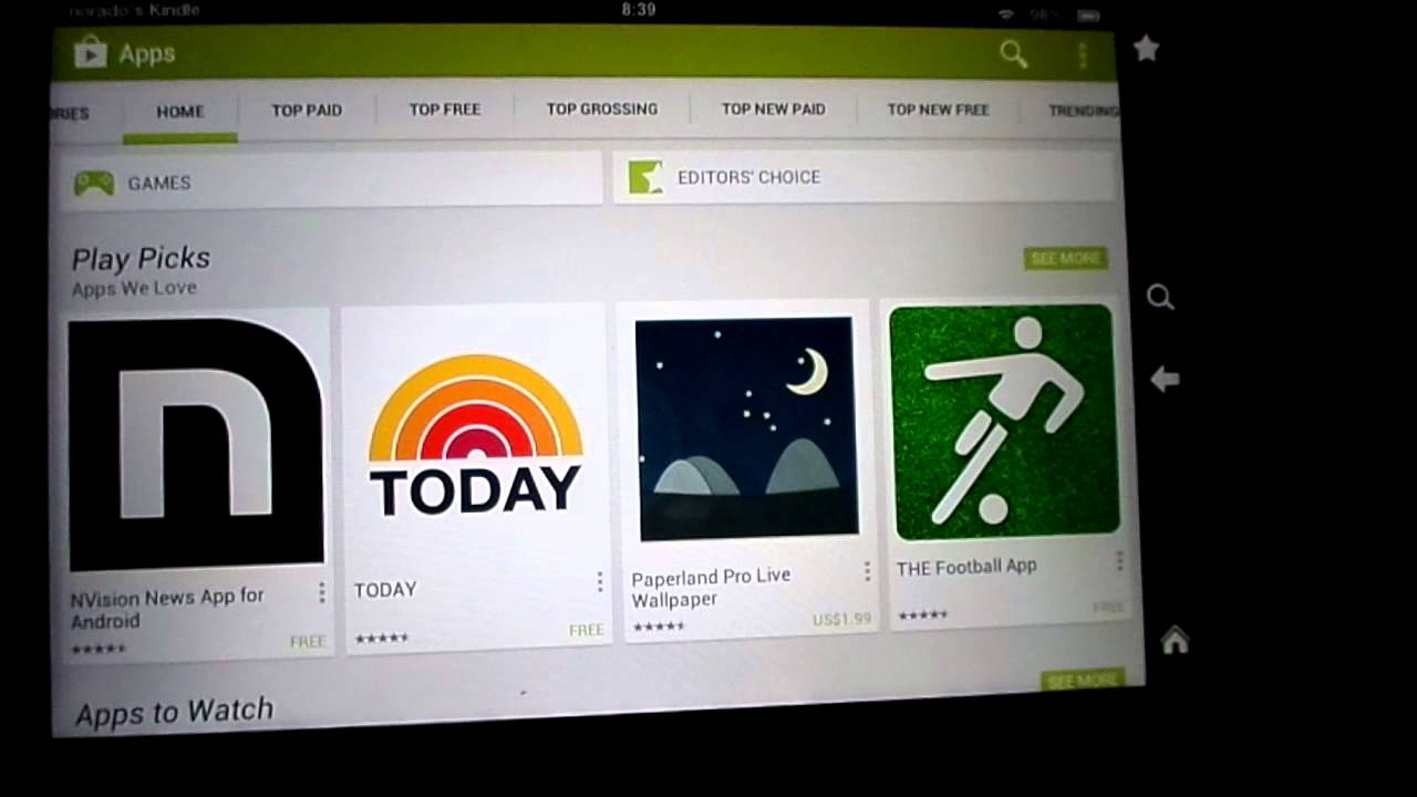 Google play store on the kindle fire hd 7 youtube