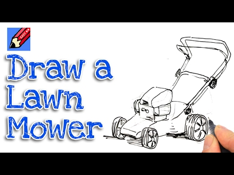 Lawn Mower Drawings How to Draw a Lawnmower For