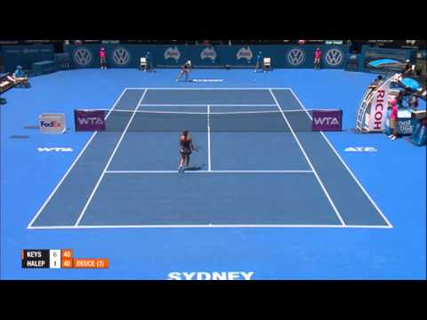 Madison Keys v Simona Halep Highlights, 2014 Apia International Sydney
