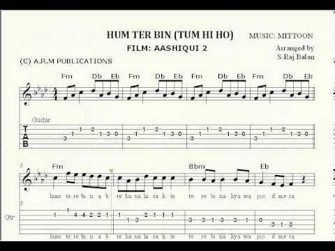 Hum Tere Bin Tum Hi Ho  Keyboard Guitar piano notations sheet music