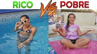 RICO VS POBRE NA PISCINA! - JULIANA BALTAR
