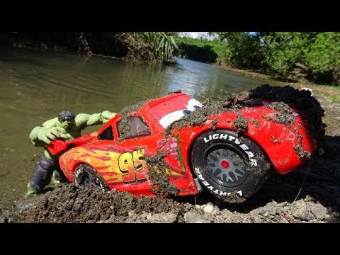 Disney Cars & Hulk Rescue Story