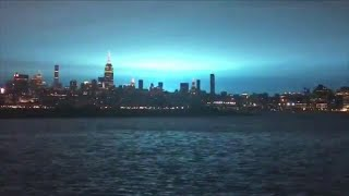 Why the Sky Turned Electric Blue in New York City