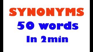 Synonyms In English || Learn || Vocablary || Prepare for English || English words || Tricks