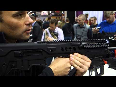 IWI Tavor SAR Bullpup Semi-Auto-Only Tactical Carbine/Rifle Demonstrated at SHOT Show 2013