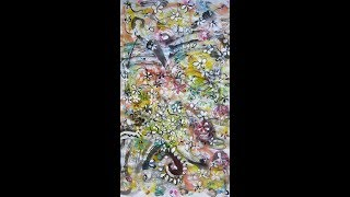 abstract flower painting video with music for sleep wall art interior decor by sj.kim, 10