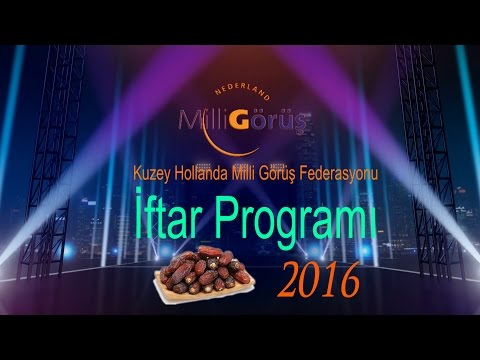 Milli Görüş 2016 İftar Programı