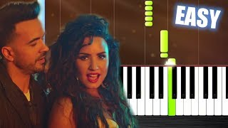 Download Lagu Luis Fonsi, Demi Lovato - Échame La Culpa - EASY Piano Tutorial by PlutaX Gratis STAFABAND