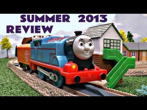 Thomas And Friends Review Summer 2013 & Chuggington + Bloopers Episodes Kids Toy Train Set video