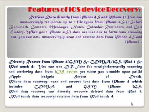 iOS Device Recovery
