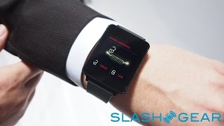 Audi Android Wear Watch Hands on Demo at CES 2015