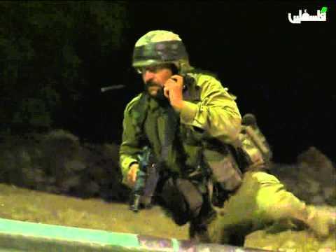 الشبان يباغتوا جنود الاحتلال في الكمين