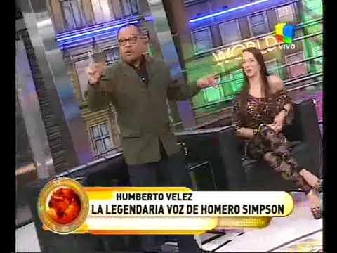 Humberto Velez, la voz de Homero Simpson