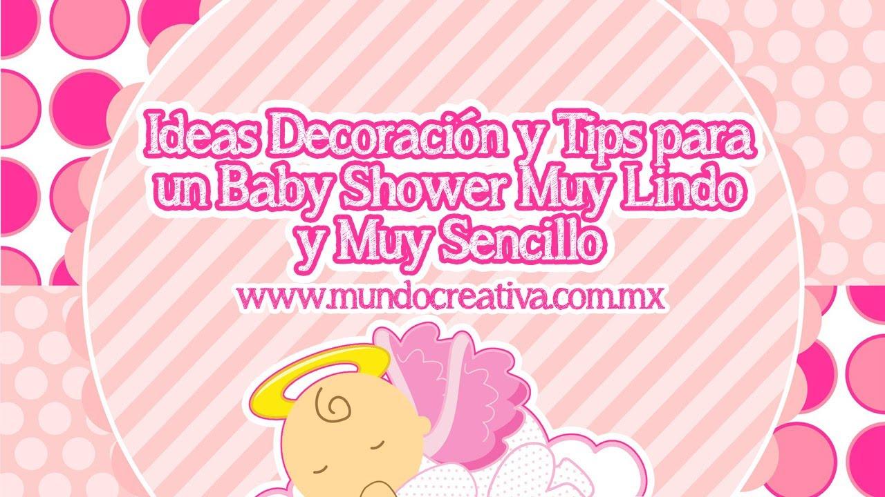 Organizar y decorar un baby shower youtube - Organizar baby shower nino ...