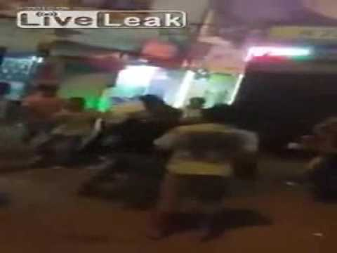 The News World - The best of LiveLeak,Hong Kong police fails to stop Arab refugees all out brawl.avi