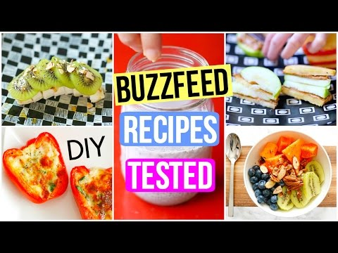 BuzzFeed Food Recipes Tested! DIY Healthy Breakfast + Snacks!
