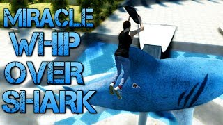 Skate 3 - Part 10 | MIRACLE WHIP OVER SHARK | Learning to flip