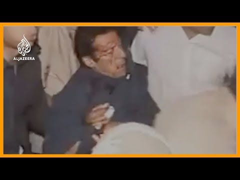 Imran Khan falls from rally stage in Pakistan