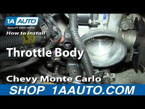 How To Install Remove Throttle Body 3.4L Chevy Monte Carlo