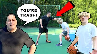 Trash Talking Old Man EXPOSED! 1v1 Basketball Rematch!