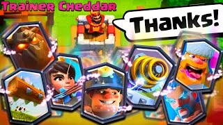 Trainer Cheddar BEATEN! Clash Royale