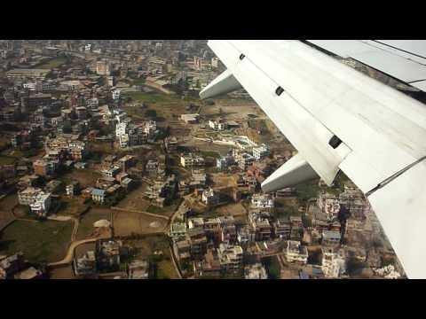 Landing at Tribhuvan International Airport, Nepal