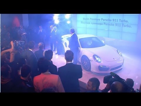 World Premiere of the new Porsche 911 Turbo in Moscow