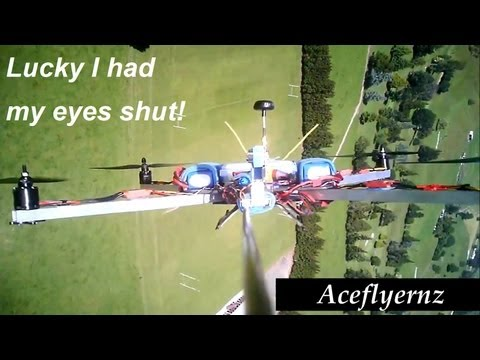 Take 1  FPV Quadcopter. Take off. close eyes firmly and wiggle those sticks. (Chase-cam view)