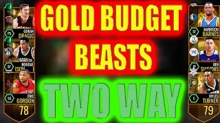 NBA LIVE MOBILE GOLD BUDGET BEASTS! TWO WAY LINEUP! INSANE OP CARDS!