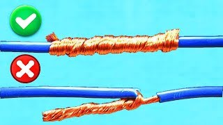 AWESOME IDEA! HOW TO TWIST ELECTRIC WIRE TOGETHER!