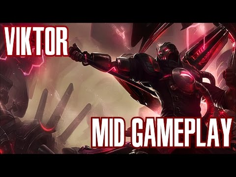 League of Legends - Viktor Gameplay -  Katarina is Broken! [PT-BR]