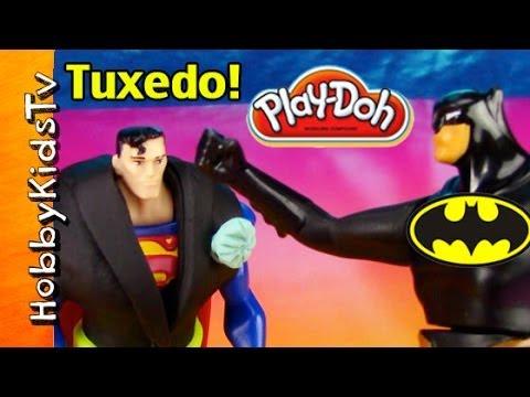 Hero BATMAN Dressed in a PLAY-DOH Tuxedo! HobbyKidsTV