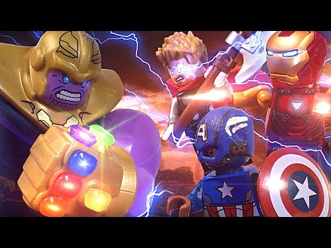LEGO Avengers: Endgame Battle - Iron Man Captain America and Thor vs Thanos