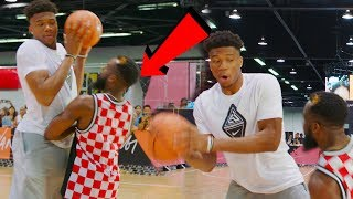 I TOOK A CHARGE DEFENDING NBA MVP GIANNIS BASKETBALL EURO STEP!