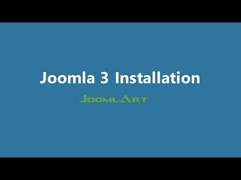 Joomla 3 Video tutorials - Joomla Installation