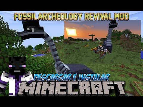 Minecraft 1.7.10/1.7.2/1.6.4 - Descargar e Instalar Dinosaurios MOD! (Fossil Archeology Revival)