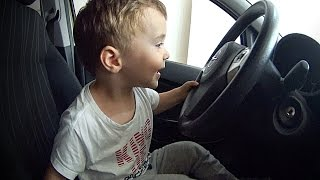 Baby Driving Car Without Driver's License