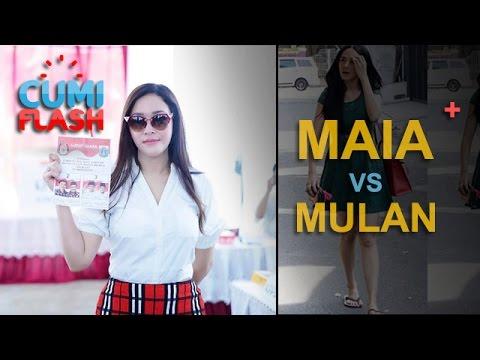 Gaya Maia vs Mulan Saat ke TPS - CumiFlash 20 April 2017