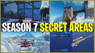 *NEW* ALL SEASON 7 BEST FEATURES/SECRETS! *Underwater City, Ice Castle, & More!* (Fortnite)