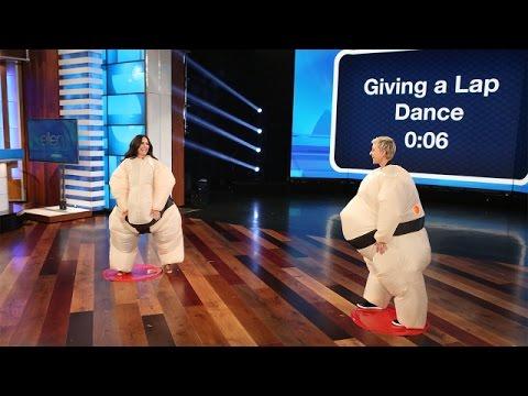 Ellen and Demi Lovato Play Su'Move It, Move It!