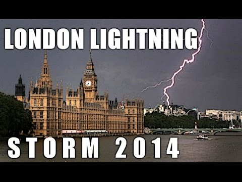 London Lightning Storm 2014. The End Times! video