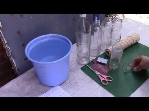 Как разрезать стеклянную бутылку ХоббиМаркет