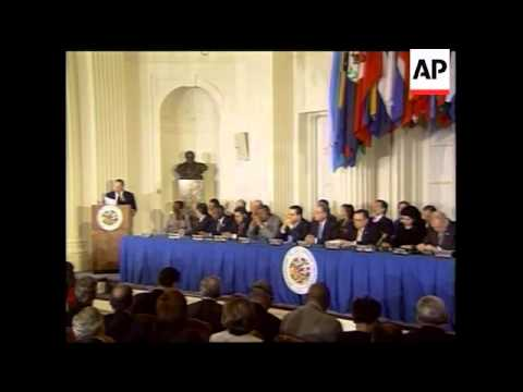 Costa Rican president inaugurated as new OAS president