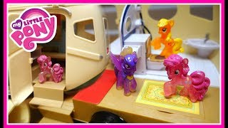 My Little Pony Camping in New Camper Van! | MLP Toy Video | Mommy Etc