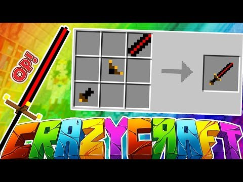 CREATING ONE OF THE BEST SWORDS EVER!? - MINECRAFT'S OLDEST MOD PACK CRAZY CRAFT SURVIVAL #8
