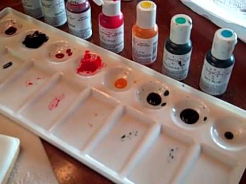 How To Mix Gel Food Color Paints