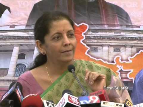Nirmala Sitaraman's interaction with media in Ahmedabad Gujarat