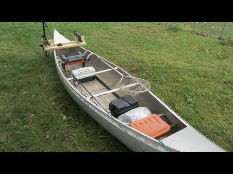 [Updated] Outfitting a Canoe With a Side Mount Trolling Motor (A Few Changes)